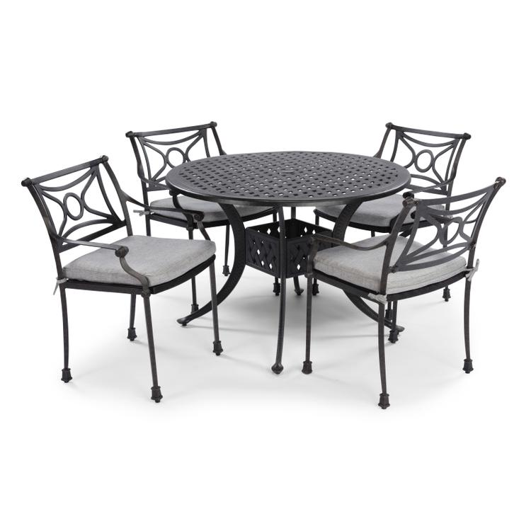 Home Styles La Jolla Cast Aluminum Outdoor Round 5 Pc. Dining Group