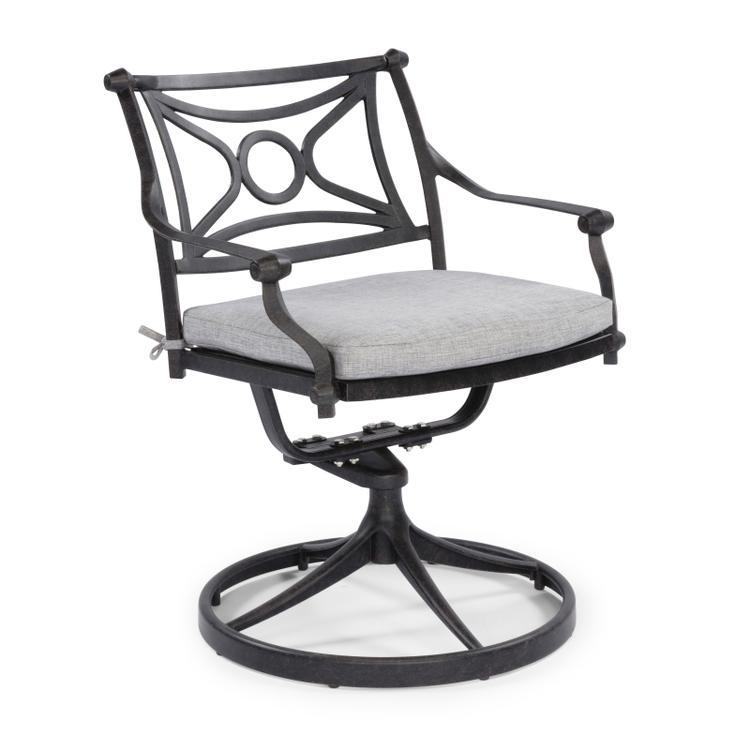 Home Styles La Jolla Cast Aluminum Outdoor Swivel Rocking Chair