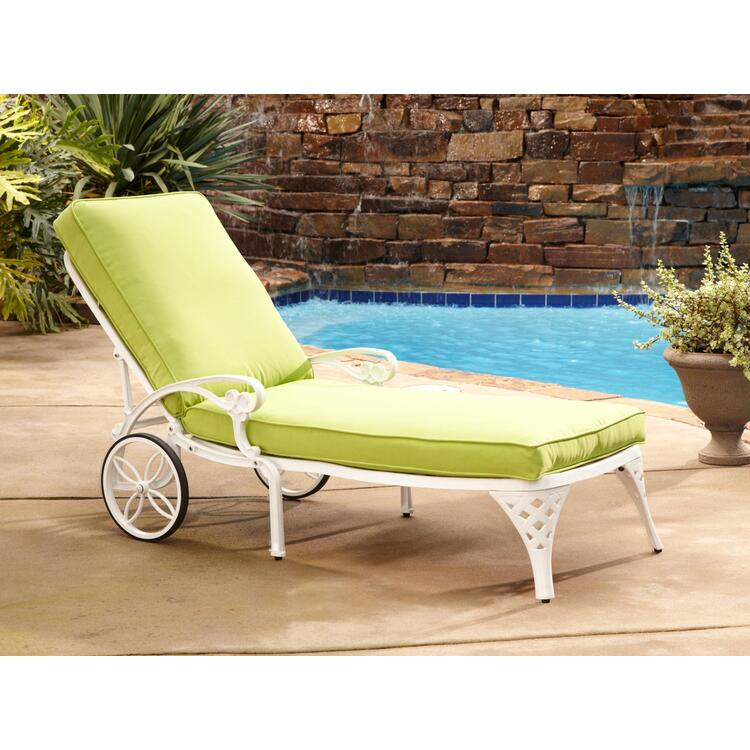 Home Styles Biscayne Chaise Lounge Chair Taupe Cushion