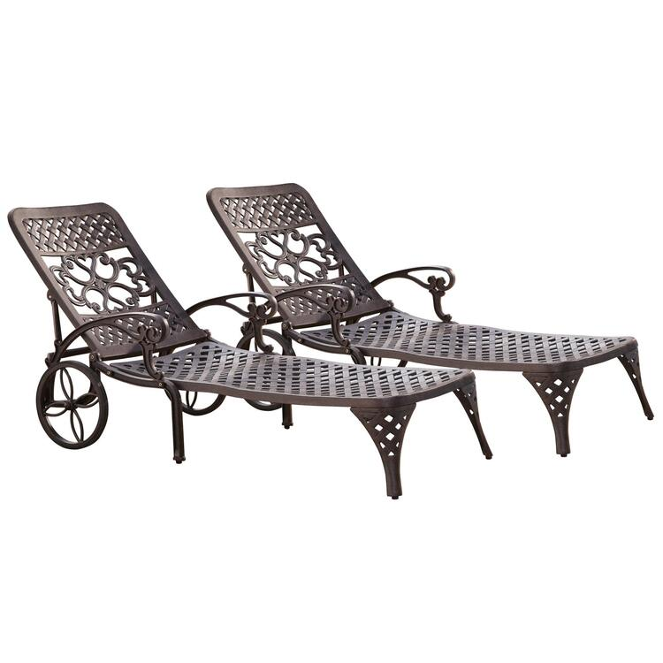 Home Styles Biscayne Chaise Lounge Chairs (2)