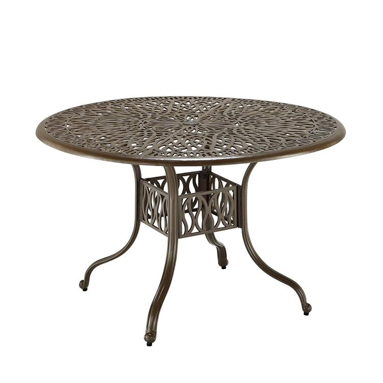 Home Styles Floral Blossom Taupe 48 Inch Dining Table
