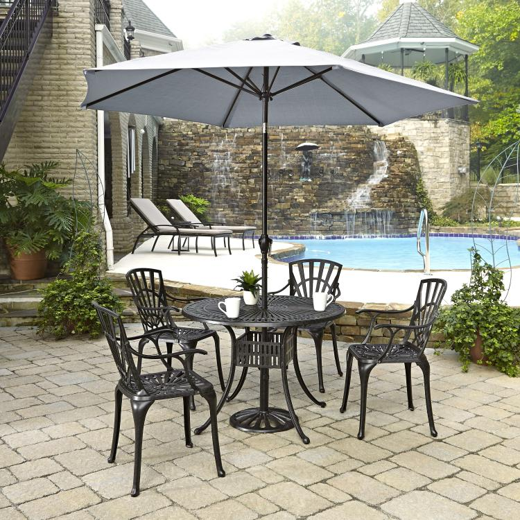 Home Styles Largo 5PC Dining Set w/ Umbrella