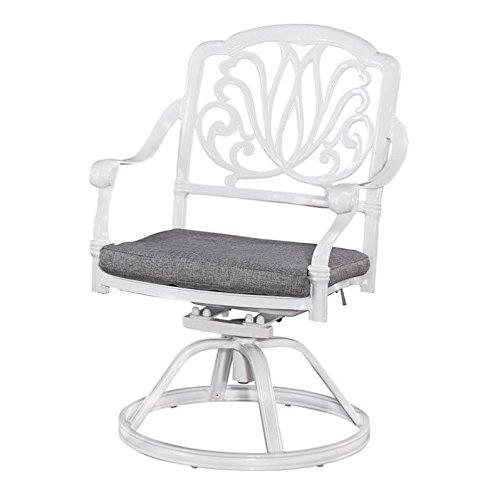 Home Styles Floral Blossom White Swivel Chair w/ Cushion