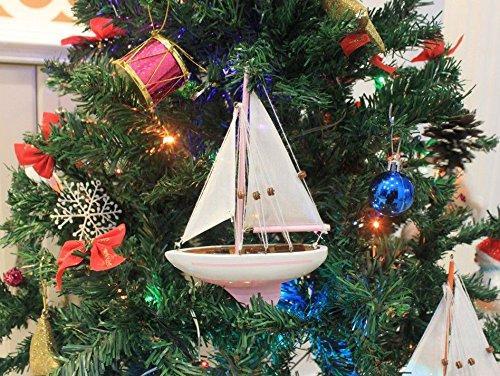 Pink Sailboat Christmas Tree Ornament 9''