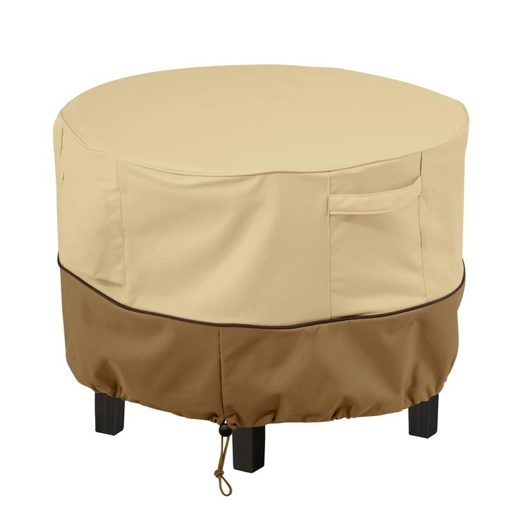 Classic Accessories Veranda Round Patio Ottoman/Coffee Table Cover - Durable and Water Resistant Outdoor Furniture Cover, X-Small (55-999-361501-00)