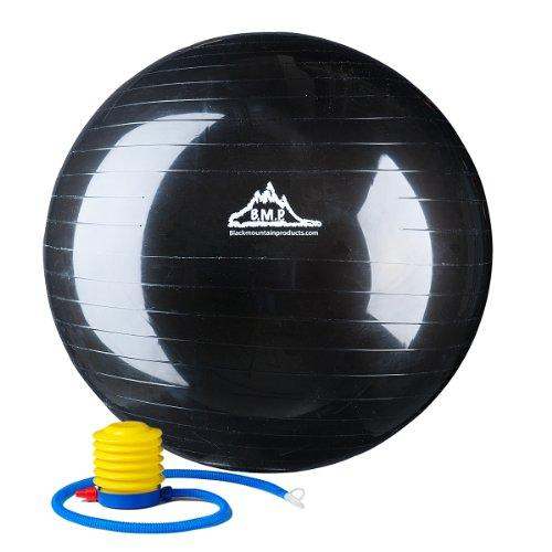 2000lbs Static Strength Exercise Stability Ball with Pump Black