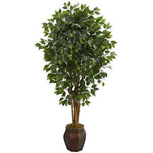 6? Ficus Artificial Tree in Decorative Planter