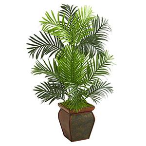 Nearly Natural 3' Paradise Palm Artificial Tree in Decorative Planter