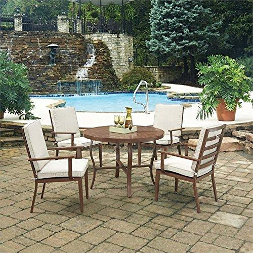Home Styles Key West 5 Pc. Round Outdoor Dining Table& 4 Chairs:
