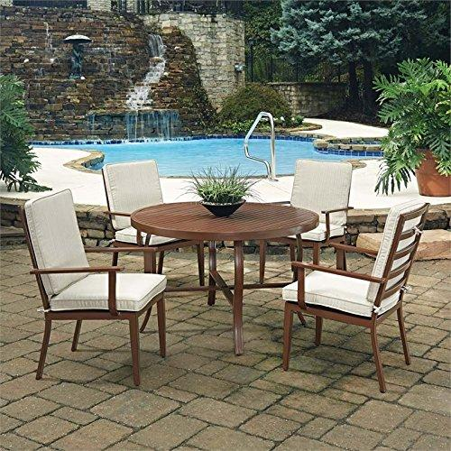 Home Styles Key West 5 Pc. Round Outdoor Dining Table& 4 Chairs