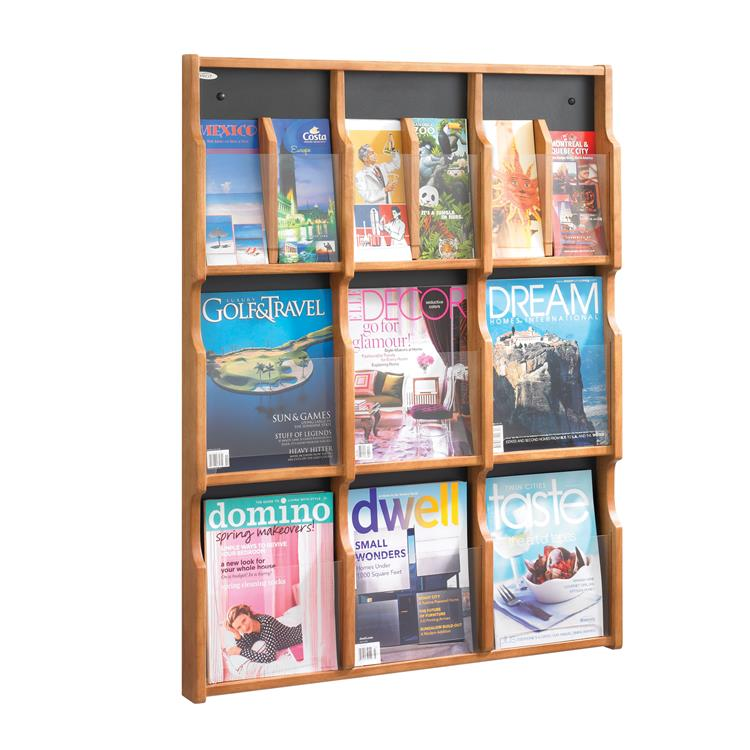 Expose™ Literature Organizer Display, 9 Magazine 18 Pamphlet