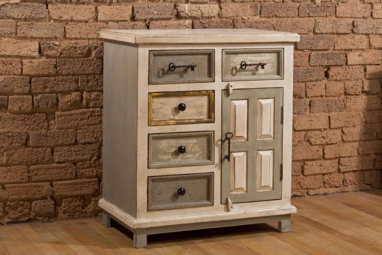 LaRose (5) Five Drawer Accent Cabinet with Solid Wood Door