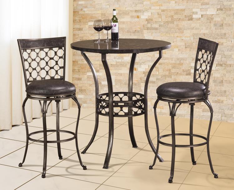 Brescello 3-Piece Bar Height Bistro Dining Set