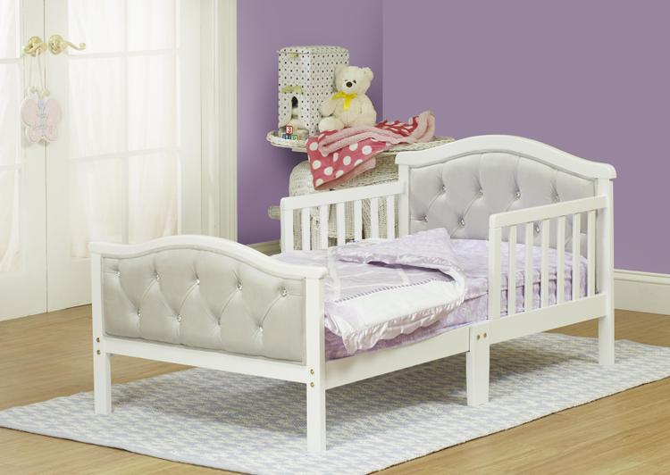 The Orbelle Gray Padded Toddler Bed
