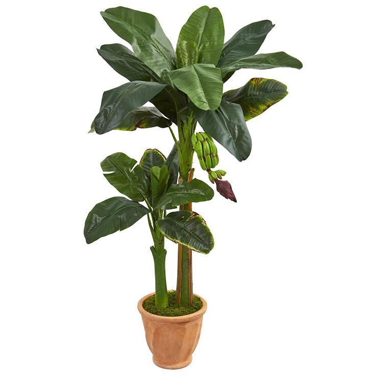 5? Double Stalk Banana Artificial Tree in Terracotta Planter