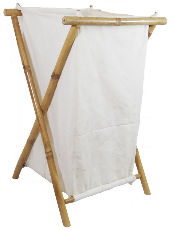 Bamboo Hamper With Canvas