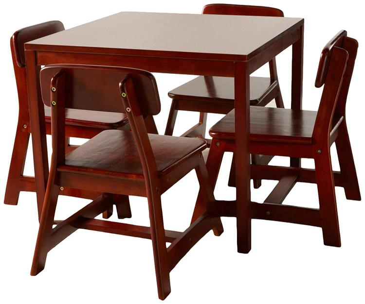 Child's Cherry Finish Table with 4 Chairs