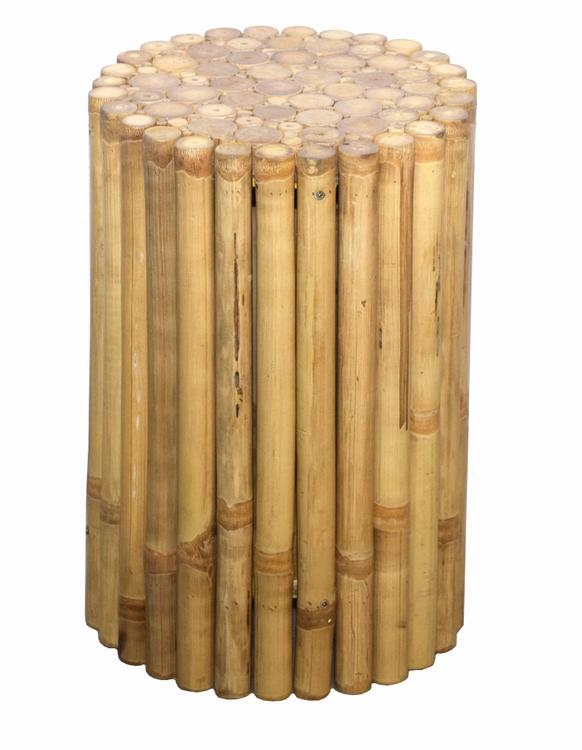 Bamboo 54 Rustic Bamboo End Table/Stool