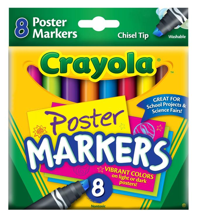 58-8173 Poster Markers 8Ct