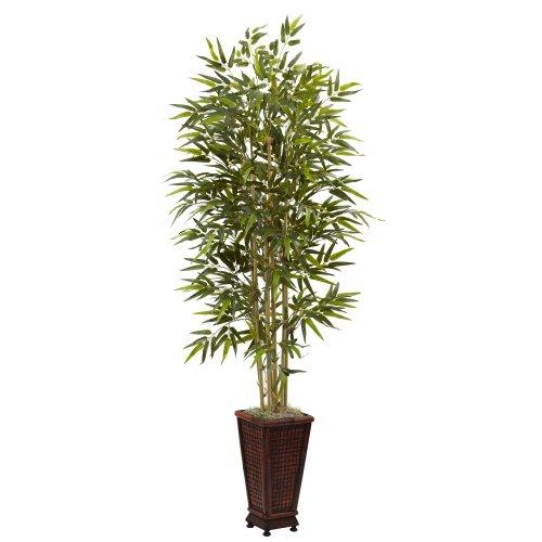 Nearly Natural 6? Bamboo Tree w/Decorative Planter
