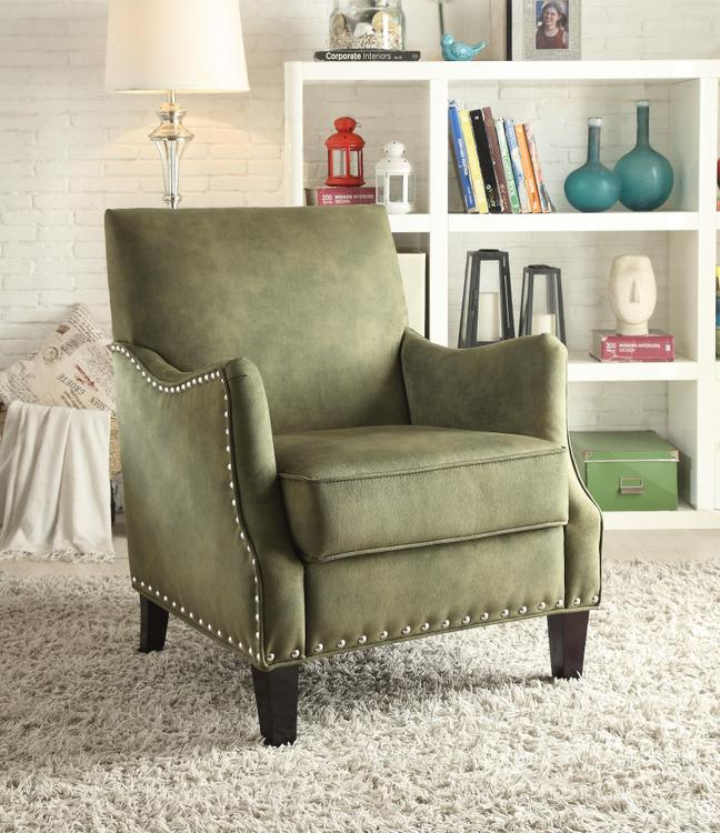 Acme Acme Sinai Accent Chair Olive Fabric By Oj Commerce
