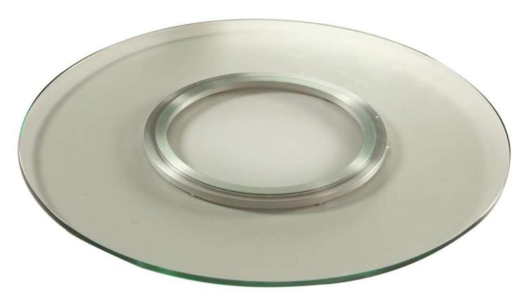 Lay Susan Tempered Round Glass Spinning Tray