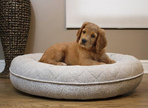 Arlee Donut Lounger and Cuddler Style Pet Bed for Dogs and Cats-35x35,Gray