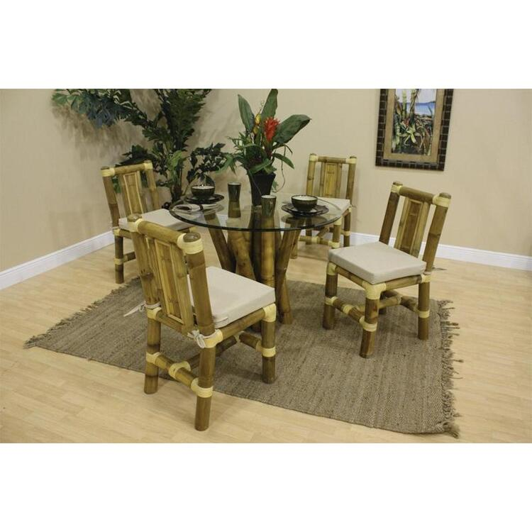 Aloha Bamboo 5 Piece Dining Set