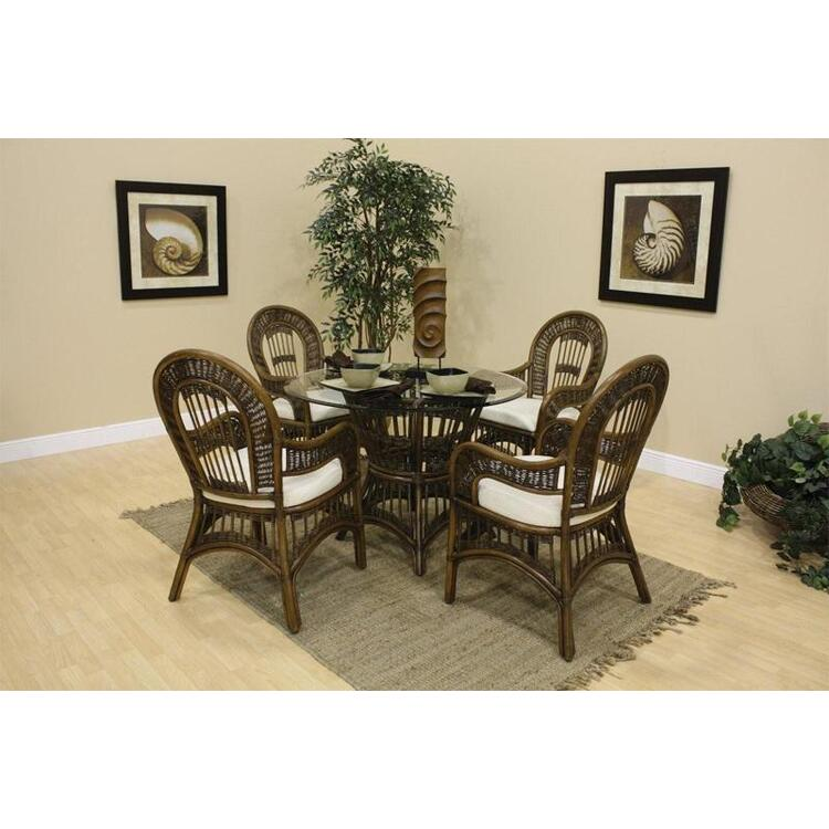 St Lucia Arm Chair Dining Set, Finish Antique