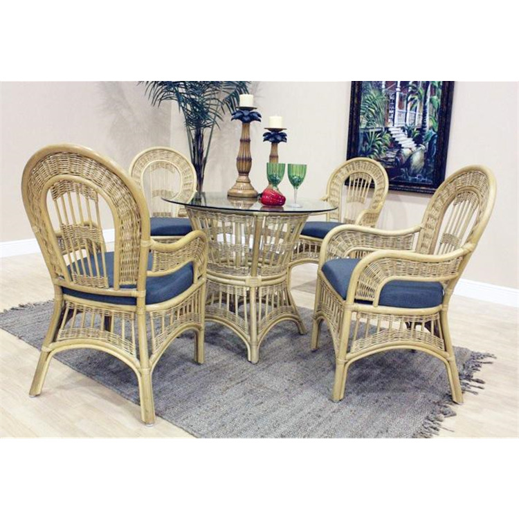 St Lucia Arm Chair Dining Set, Finish Natural