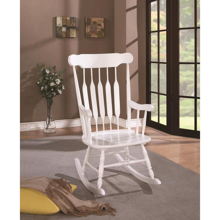 Coaster Traditional White Rocking Chair