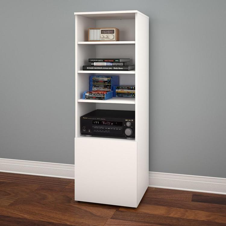 Arobas 600203 Bookcase / Audio Tower from Nexera, White