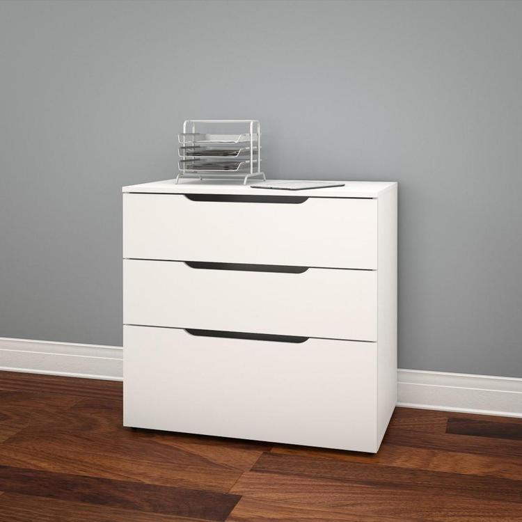 Nexera Arobas 3-Drawer Filing Cabinet