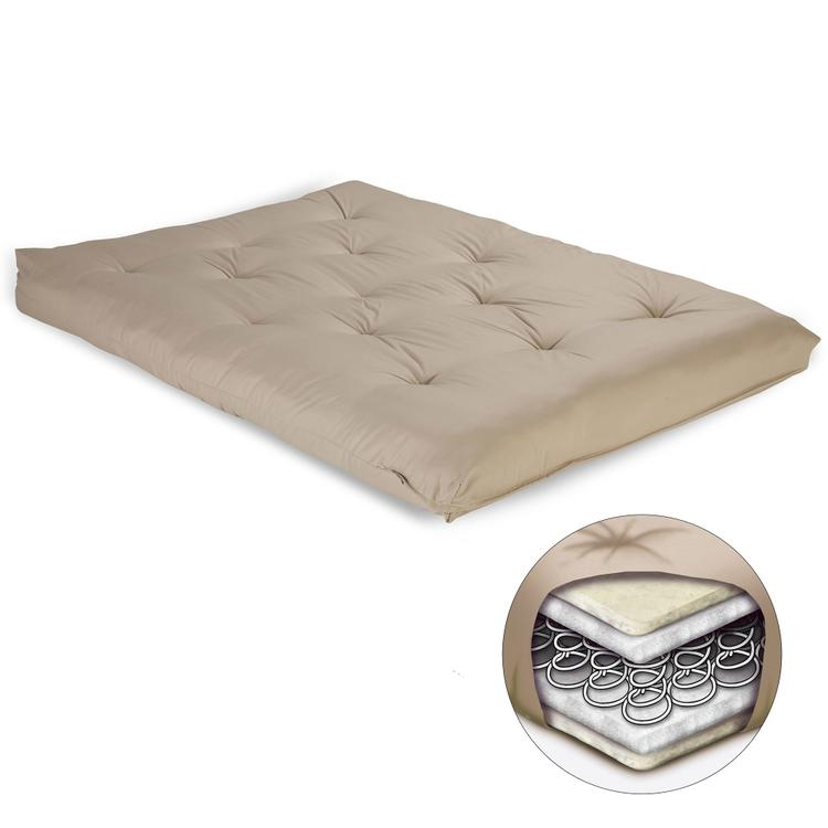 8-Inch Futon Mattress with Multi-Layer Innerspring Core