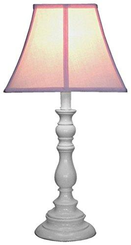 White Base Resin Table Lamp - Pink (with 13 W, CFL Bulb)