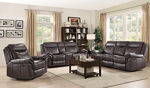 Coaster Sawyer Motion Plush Glider Recliner with Contrast Piping Cocoa