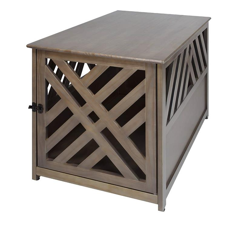 Casual Home Modern Lattice Pet Crate End Table