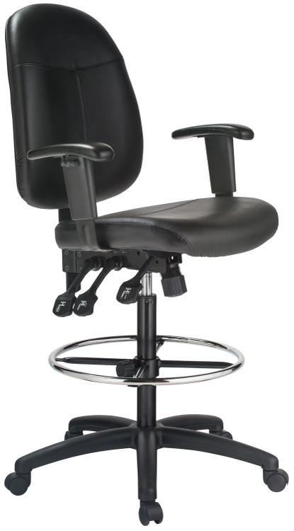 Harwick Extra Tall Ergonomic Leather Drafting Chair