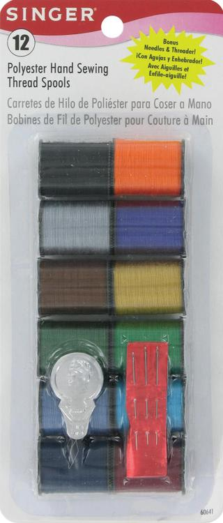 60641 Thread Poly Drk Ast 12Ct