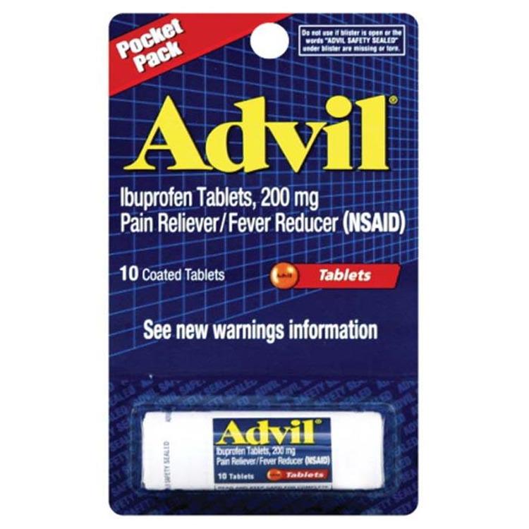 Advil 200Mg Pocket Pack 10Pk