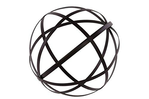 UTC60921 Metal Orb Dyson Sphere Design Decor (5 Circles) Coated Finish Black