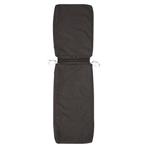 Ravenna Patio Chaise Lounge Cushion Slip Cover - Durable Outdoor Cushion, Espresso, 72