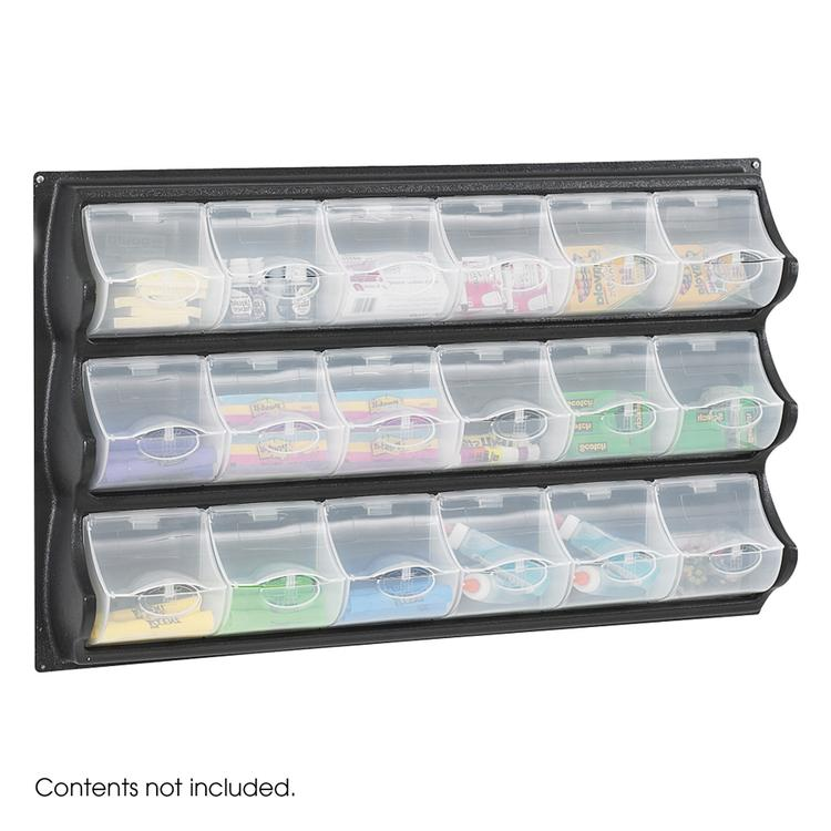Panel Bins, 18 Pocket, Black