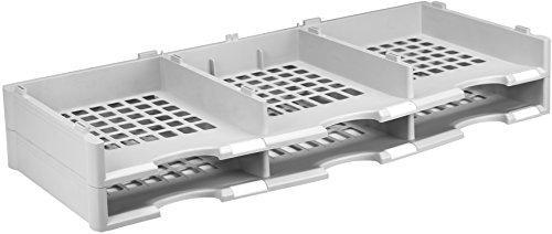 Storex Modular 6-Compartment Literature Organizer Add-on Unit, Gray
