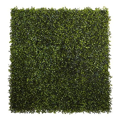 Nearly Natural 12? x 10? Boxwood Mat (Set of 12)