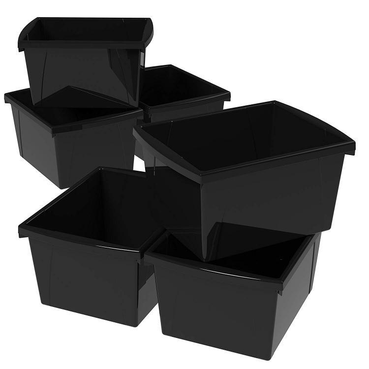 Storex Stackable Cubby Bin, 6-Pack [Item # 61466U06C]