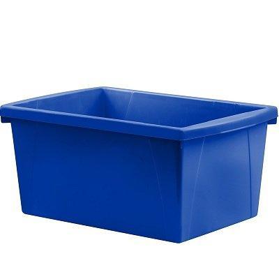 Storex 5.5 Gallon (21L) Classroom Storage Bin, Blue, 6-Pack