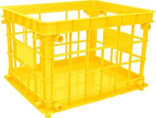 Storex Standard File Crate, Letter/Legal Size, Class Yellow, 3-Pack