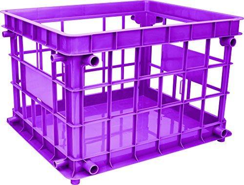 Storex Standard File Crate, Letter/Legal Size, Class Purple, 3-Pack