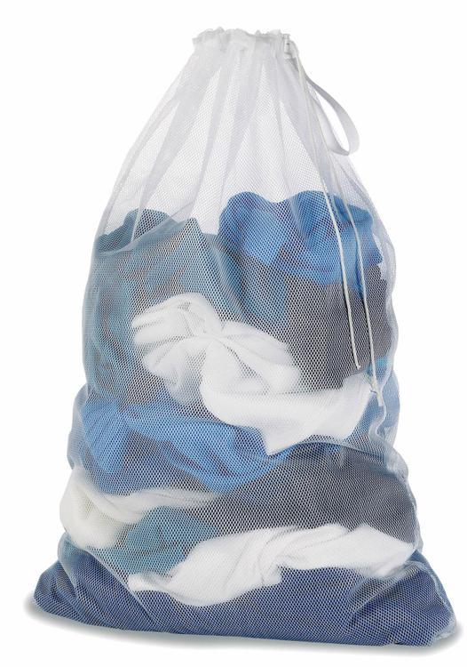 6154-111 Laundry Bag Mesh Wht